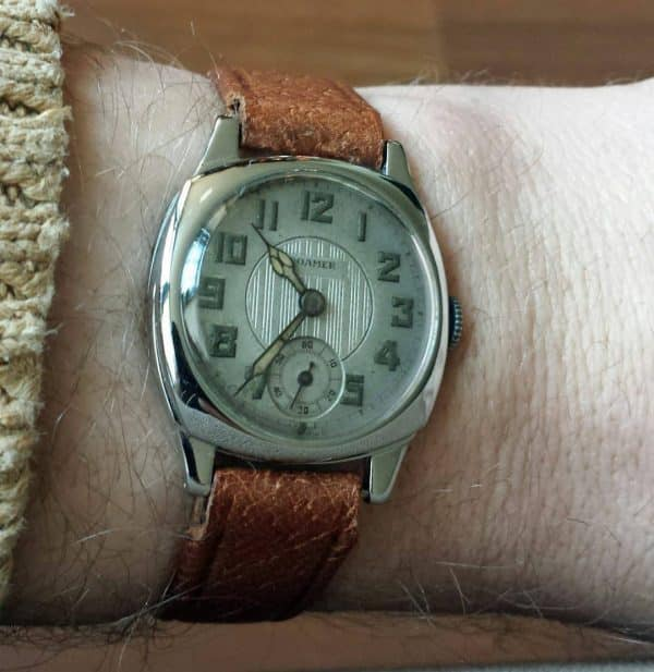 Chrome plated Roamer vintage watch