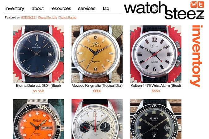 Buy Vintage Watches Online