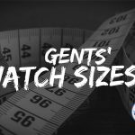 Gents' watch sizes