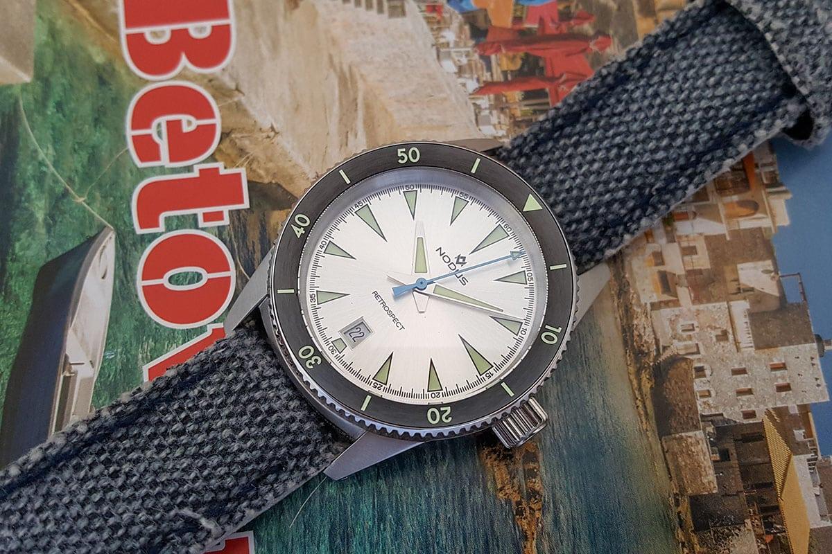 Dassari canvas watch strap with Nodus