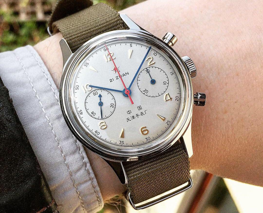 Wrist shot Seagull 1963 chronograph