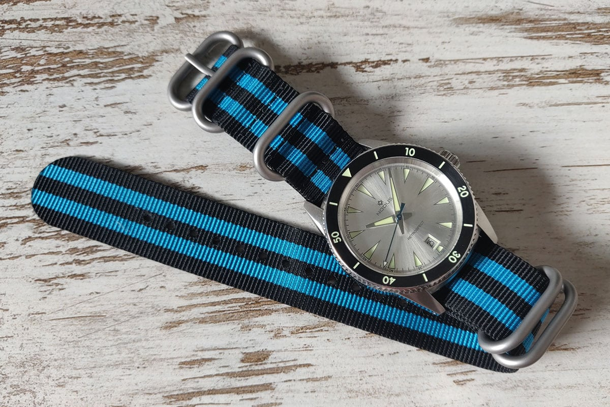 Nodus watch with StrapsCo NATO strap